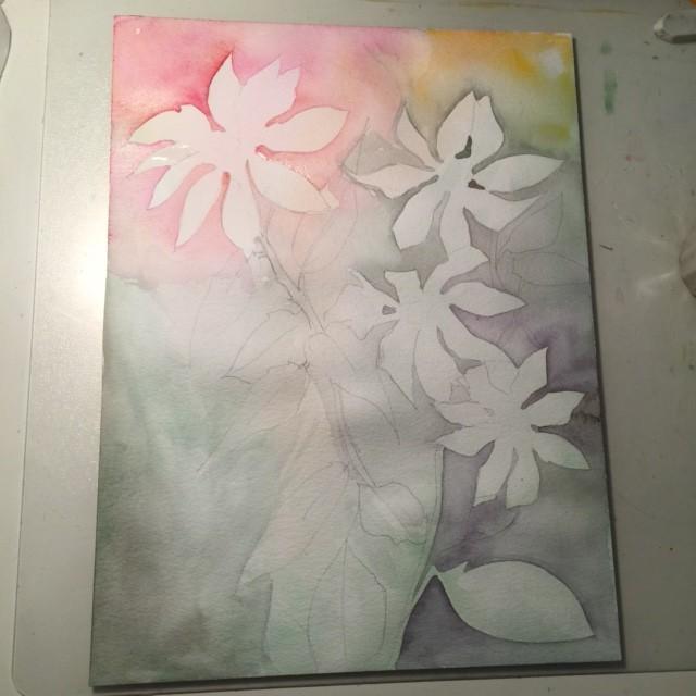 Bild nr. 1 Här är första lagret målat
