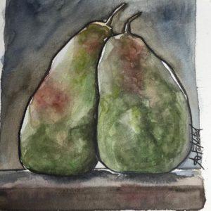Akvarellpäron