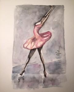 Dancing Queen - Akvarell